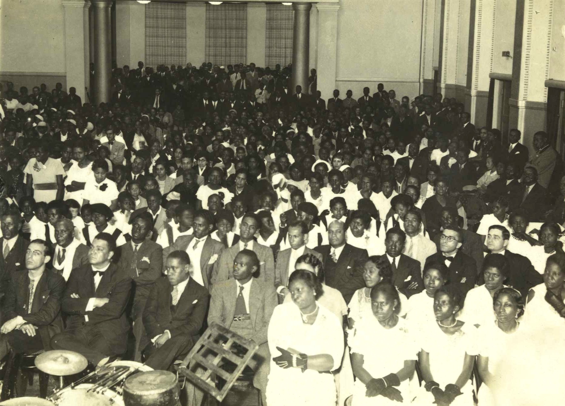 Foto de aniversário da Frente Negra em 1935